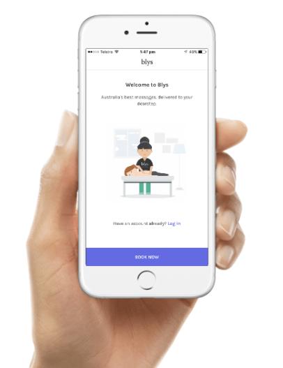 mobile massage on demand blys